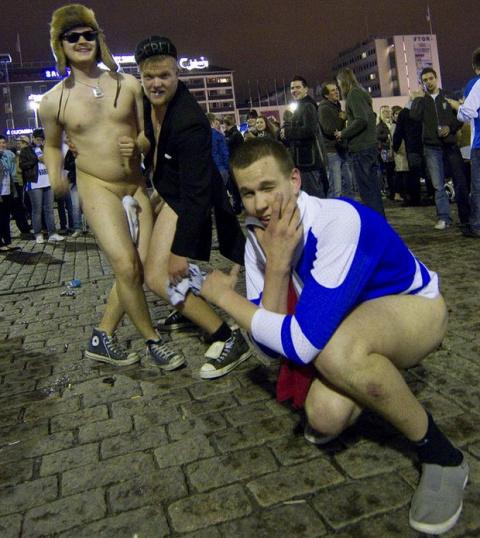 Трезвые финны - пьяные русские.