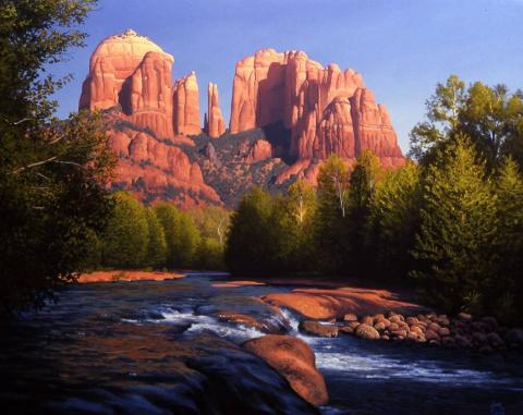 Горные пейзажи художника John D.Cogan