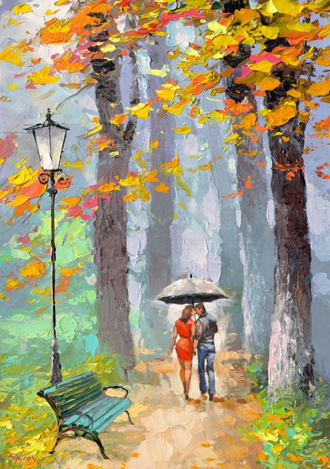 Осенний дождь. Художник Dmitry Spiros