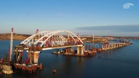 По Крымскому мосту доставили…