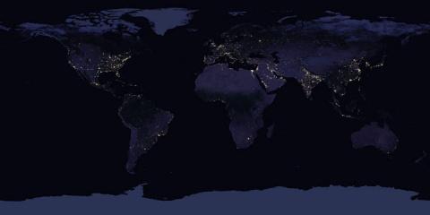 Спутниковые фото Земли в ноч…