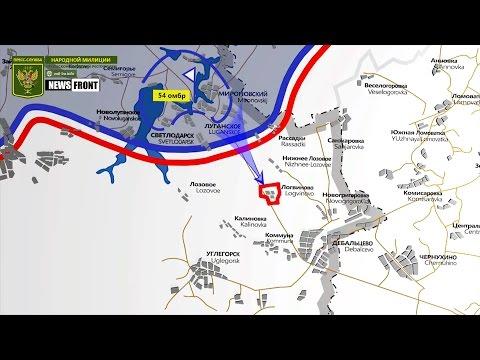 ЛНР: карта обстрелов со стороны ВСУ. 27 апреля 2017