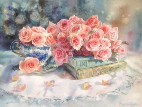 Все роскошество цветов в акв…