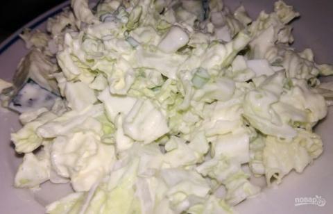 Простой салат из пекинской к…