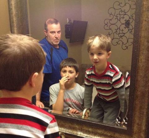 Детишки решили подстричься