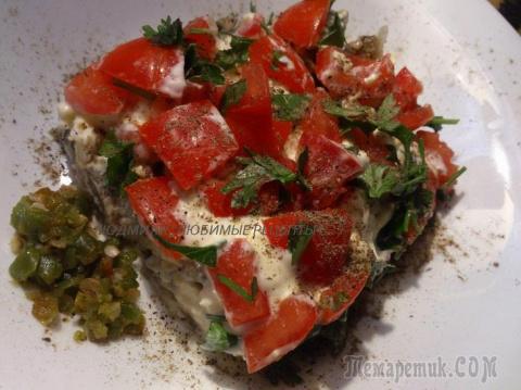 """Вкуснейший салат """"Баклажановый рай"""" по-новому"""
