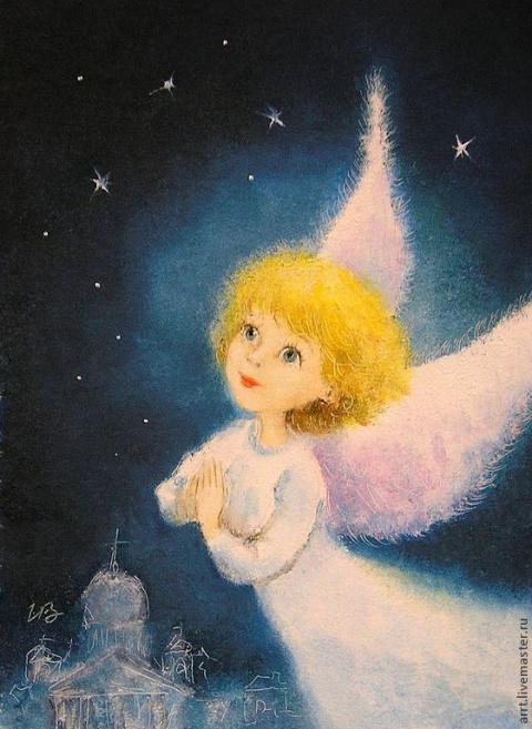Милые ангелы от художника Ирины Капустиной