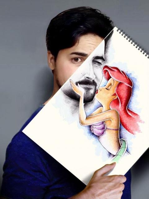 Художник из Ирака делает из своих картин скетчи