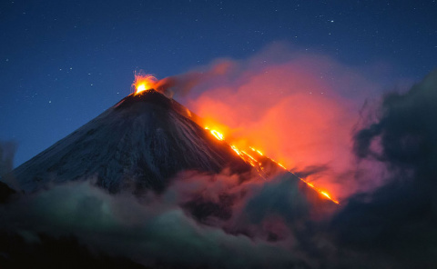 Красота вулканов на полуостр…