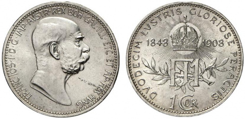 Памятные монеты Франца-Иосифа I. Часть 3. 60-летие правления