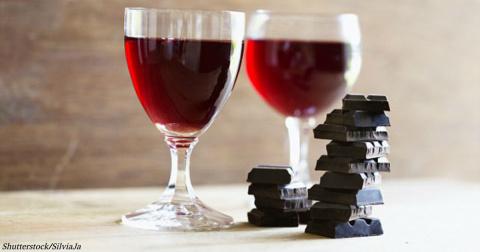 Вино и шоколад решают проблему, которая касается 100% людей
