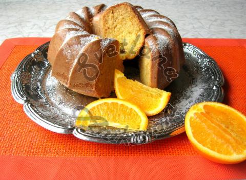 Кекс на кефире с апельсиновой цедрой
