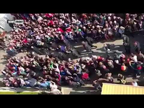 Правые активисты Мекленбурга освистали выступление Ангелы Меркель