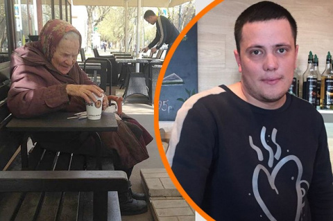 Официант каждый день за свой счет угощает бабушку-ветерана чаем