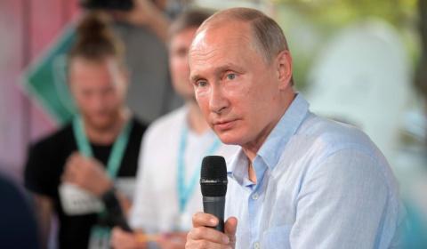 Путина уговорили сняться в рекламе