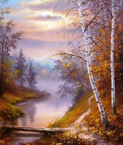 Красота белорусской природы. Пейзажи художника Трпевски Слободан