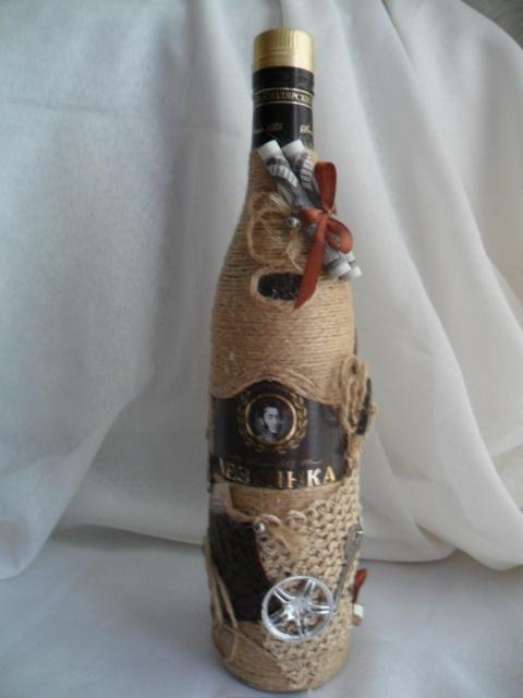 Бутылка для любителя коньяка.