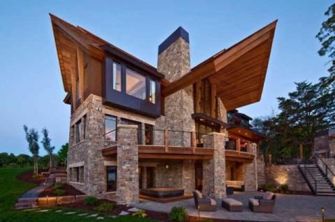 Необычные крыши частных домов