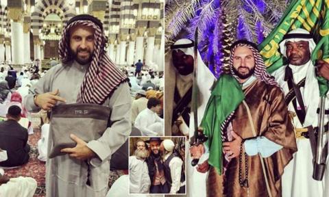 Израильтянин вызвал скандал в сети, посетив мусульманские святыни