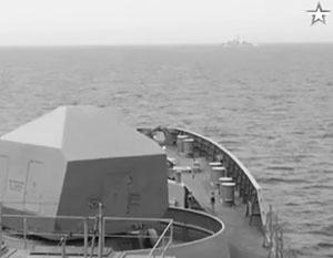 Корабль НАТО преградил путь …