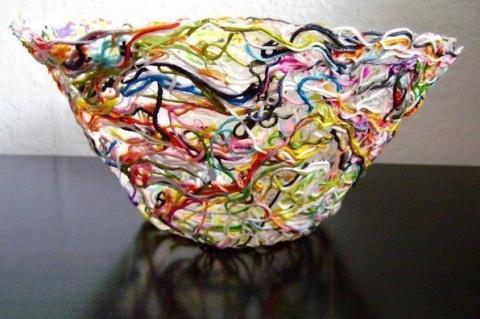 Ажурная ваза из ниток