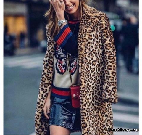Тренд сезона - леопардовое пальто