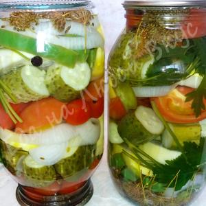 Яркое Ассорти из овощей на з…