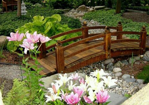 Садовые мостики - украшение …