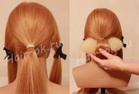 Красивая прическа с косами своими руками