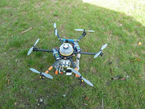 Dron + CellAgent (или SOSmobile24) в режиме фото мониторинга on-line