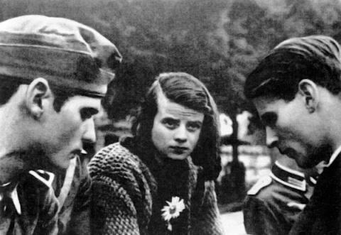 Немка Софи Шолль, казненная в Германии за распространение антифашистских листовок в 1943 году.