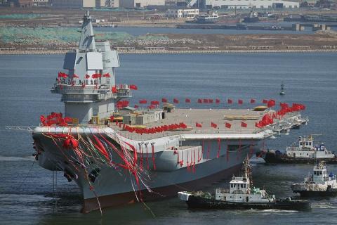 Новый китайский авианосец вы…