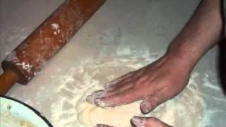 Грузинская кухня. Хачапури имеретинский. Лобиани.
