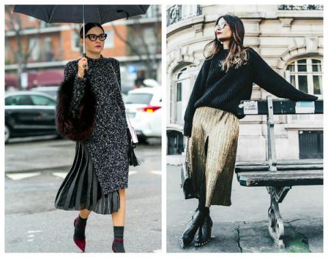 Как носить юбку зимой: модны…