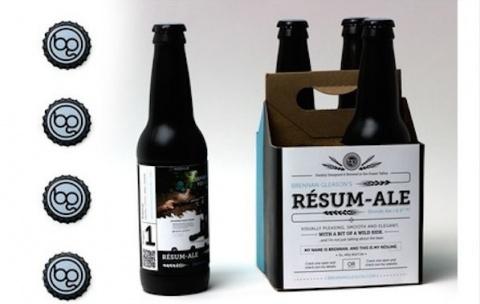 Пиво-резюме – нельзя не заметить!