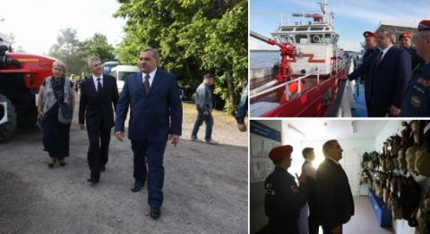 Глава МЧС России проверил пожарную безопасность на острове Кижи