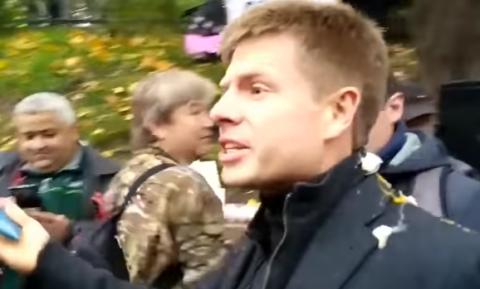 Гончаренко прокомментировал инцидент с брошенными в него яйцами