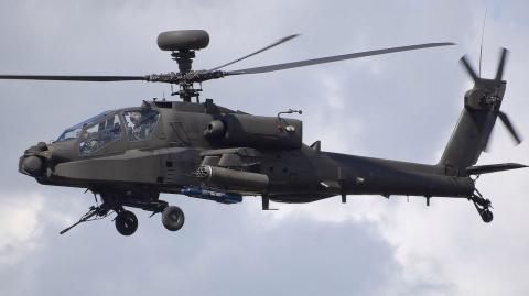 Боевой вертолет Apache рухну…