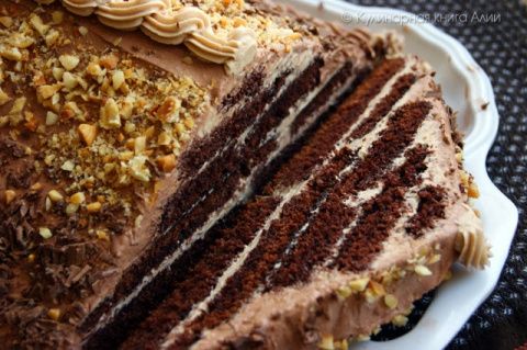 "Торт ""Шоколадная пирамида"""