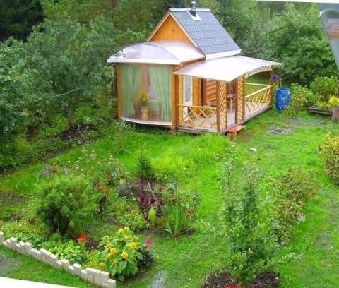 Баня на садовом участке