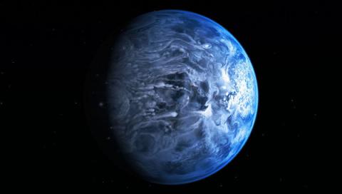 """""""Хаббл"""" сфотографировал ярко-голубую планету"""