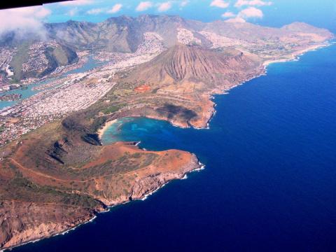 Ханаума Бэй - гавайский пляж в кратере вулкана