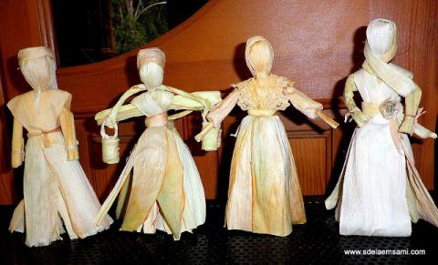 Куклы из листьев кукурузы (талаша)