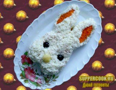 """Салат """"Новогодний кролик"""""""