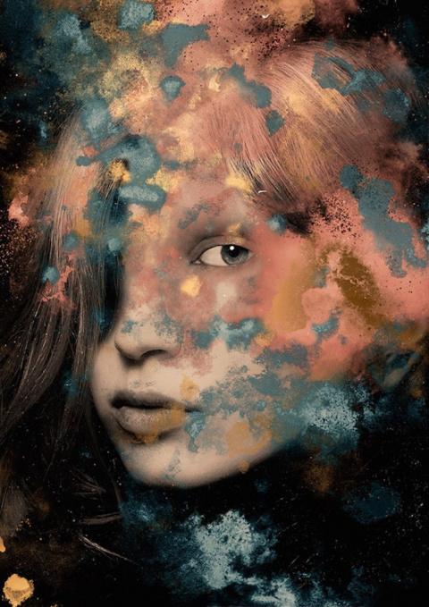 Женщины в поэтичных фотоманипуляциях Андре Санчеса