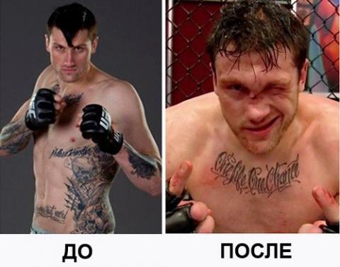 Как ломают носы бойцы MMA