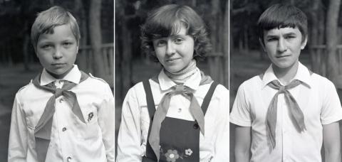 1979 3 смена. Совет дружины. Портретики для стенда...