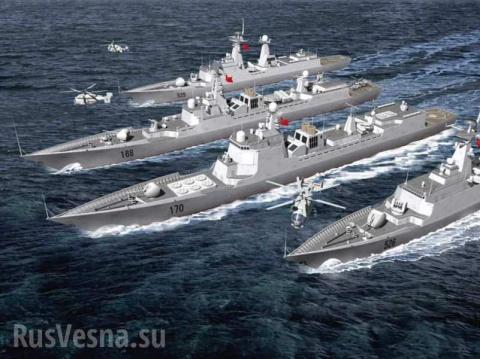 Спорные воды: боевые корабли Китая отогнали американский эсминец