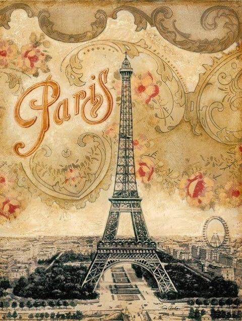 В коллекцию для декупажа Ах, Париж.....