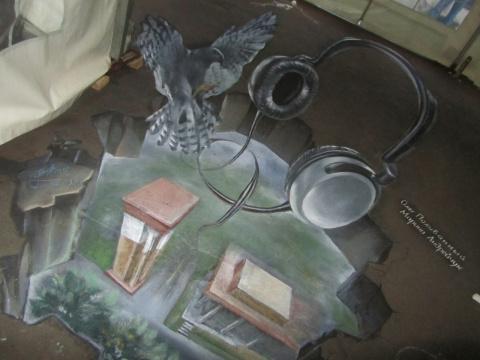 Уличные 3D-рисунки Олега Поливанного и Марины Андрейчук